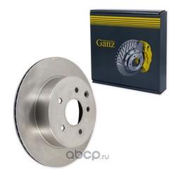 Диск тормозной задний (GANZ) GIJ06032