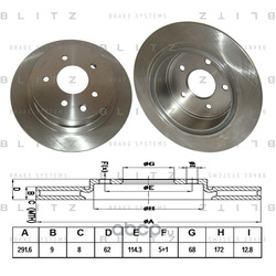 Тормозной диск (Blitz) BS0252