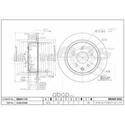 Диск тормозной (EAS) EBD01110CG