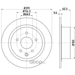 Тормозной диск (Mintex) MDC2503C