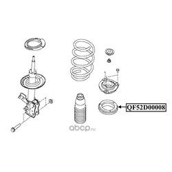 Подшипник опоры переднего амортизатора (QUATTRO FRENI) QF52D00008