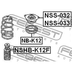 Опора переднего амортизатора левая (Febest) NSS033