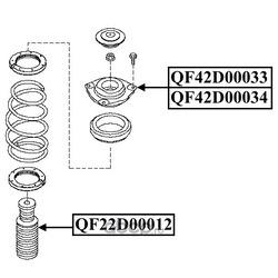 Опора переднего амортизатора левая без подшипника (QUATTRO FRENI) QF42D00034
