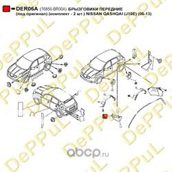 Брызговики передние (DePPuL) DER06A