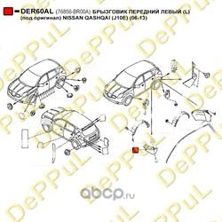 Брызговик передний левый (DePPuL) DER60AL
