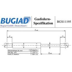 Упругий элемент, крышка багажника / помещения для груза (BUGIAD) BGS11195