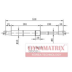Амортизатор багажника (DYNAMATRIX-KOREA) DGS016723