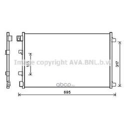 Конденсатор, кондиционер (Ava) DN5406