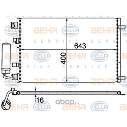 Конденсатор, кондиционер (HELLA) 8FC351310121