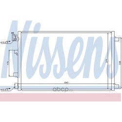 Радиатор кондиционера внешний (Nissens) 940039