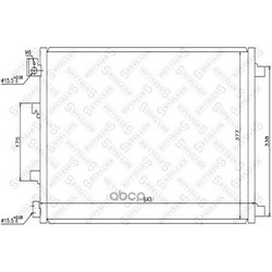 Радиатор кондиционера (Stellox) 1045485SX
