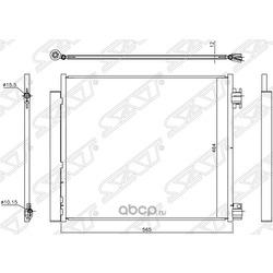 Радиатор кондиционера (Sat) STDT663940