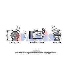 Компрессор, кондиционер (AKS DASIS) 850396N