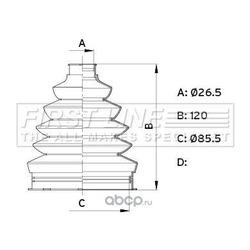 Пыльник, приводной вал (First line) FCB6339