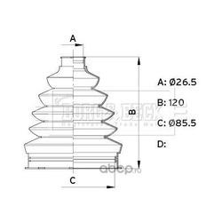 Пыльник, приводной вал (BORG&BECK) BCB6339