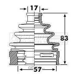 Пыльник, приводной вал (First line) FCB6239