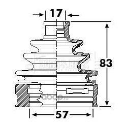 Пыльник, приводной вал (BORG&BECK) BCB6239