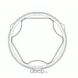 Пыльник шруса внутреннего (комплект) (GKN (Loebro)) 304885