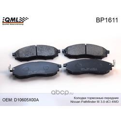 Колодки тормозные, передние (QML) BP1611