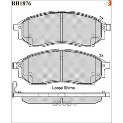 Дисковые тормозные колодки (R BRAKE) RB1876