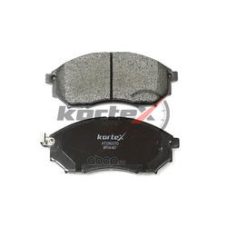 Колодки тормозные передние (комплект) (KORTEX) KT3392STD