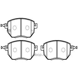 Колодки тормозные передние (HSB) HP5206