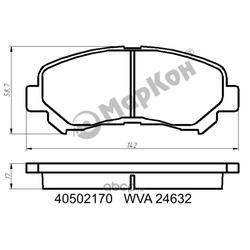 Колодки тормозные / дисковые (комплект) (МарКон) 40502170
