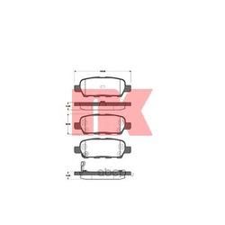 Колодки тормозные дисковые (Nk) 222262