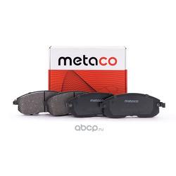 Колодки тормозные / задние / дисковые (комплект) (METACO) 3010001