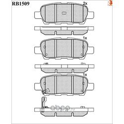 Дисковые тормозные колодки (R BRAKE) RB1509