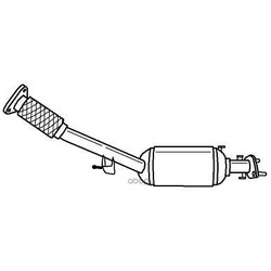 Сажевый / частичный фильтр, система выхлопа отработавших газов (Sigam) 38338