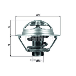 Термостат, охлаждающая жидкость (Mahle/Knecht) TX17595D