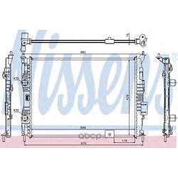 Радиатор, охлаждение двигателя (Nissens) 67364