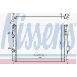 Радиатор, охлаждение двигателя (Nissens) 67368