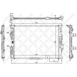 Радиатор (Stellox) 1026588SX