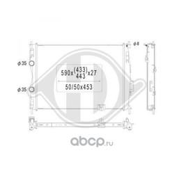 Радиатор, охлаждение двигателя (DIEDERICHS) DCM1857