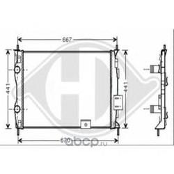 Радиатор, охлаждение двигателя (DIEDERICHS) 8604584