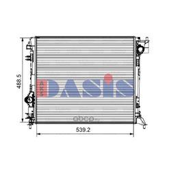 Радиатор, охлаждение двигателя (AKS DASIS) 070191N
