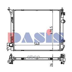 Радиатор, охлаждение двигателя (AKS DASIS) 070187N