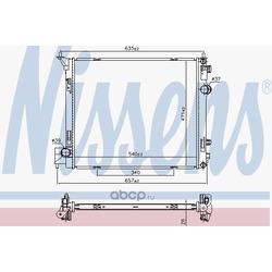 Радиатор, охлаждение двигателя (Nissens) 68786