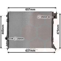 Радиатор, охлаждение двигателя (VAN WEZEL) 13012701