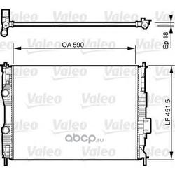 Радиатор, охлаждение двигателя (Valeo) 735282