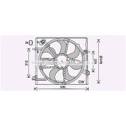 Вентилятор, охлаждение двигателя (Ava) DN7536