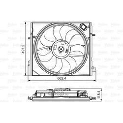 Вентилятор, охлаждение двигателя (Valeo) 696583