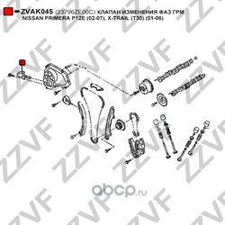 Клапан изменения фаз ГРМ (ZZVF) ZVAK045