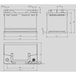 Стартерная аккумуляторная батарея (OPEN PARTS) MB074L300