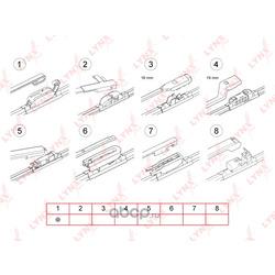 Бескаркасная щетка стеклоочистителя 300мм/12 (LYNXauto) XF300