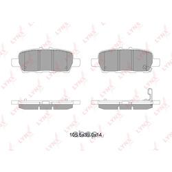 Колодки тормозные задние (LYNXauto) BD5745