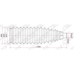 Пыльник рулевой рейки (Sat) ST4553552040