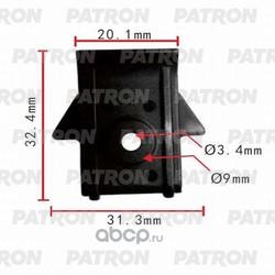 Клипса пластмассовая (PATRON) P370041